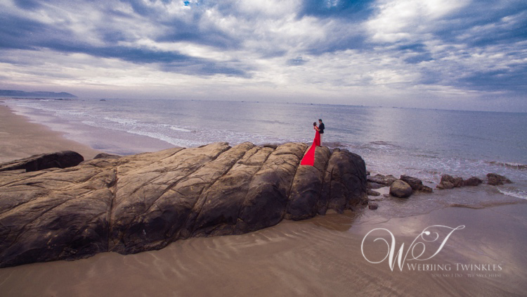 prewedding in goa-drone
