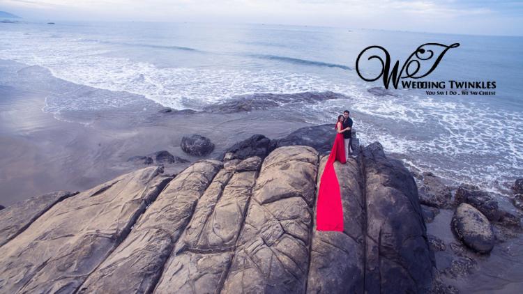 prewedding in goa-drone