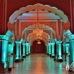 Grand entrance of City Palace in Jaipur