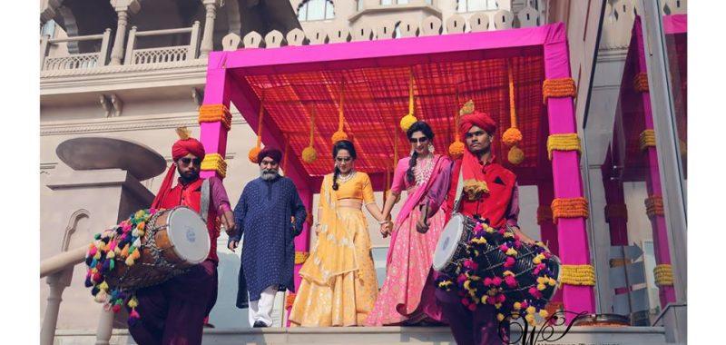 Mehendi ceremony of Gunja & Lovepreet / Jyoti & Manan at Fairmount, Jaipur