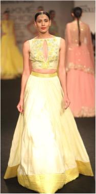 Haldi outfit with leganga