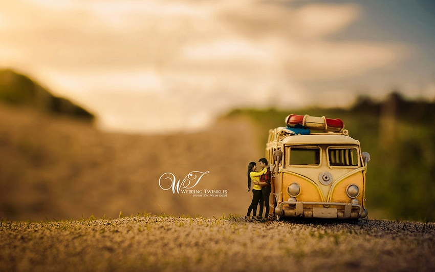 Miniature Photography For Couples By Wedding Twinkles