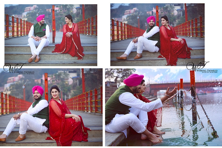 pre wedding photoshoot images in Rishikesh